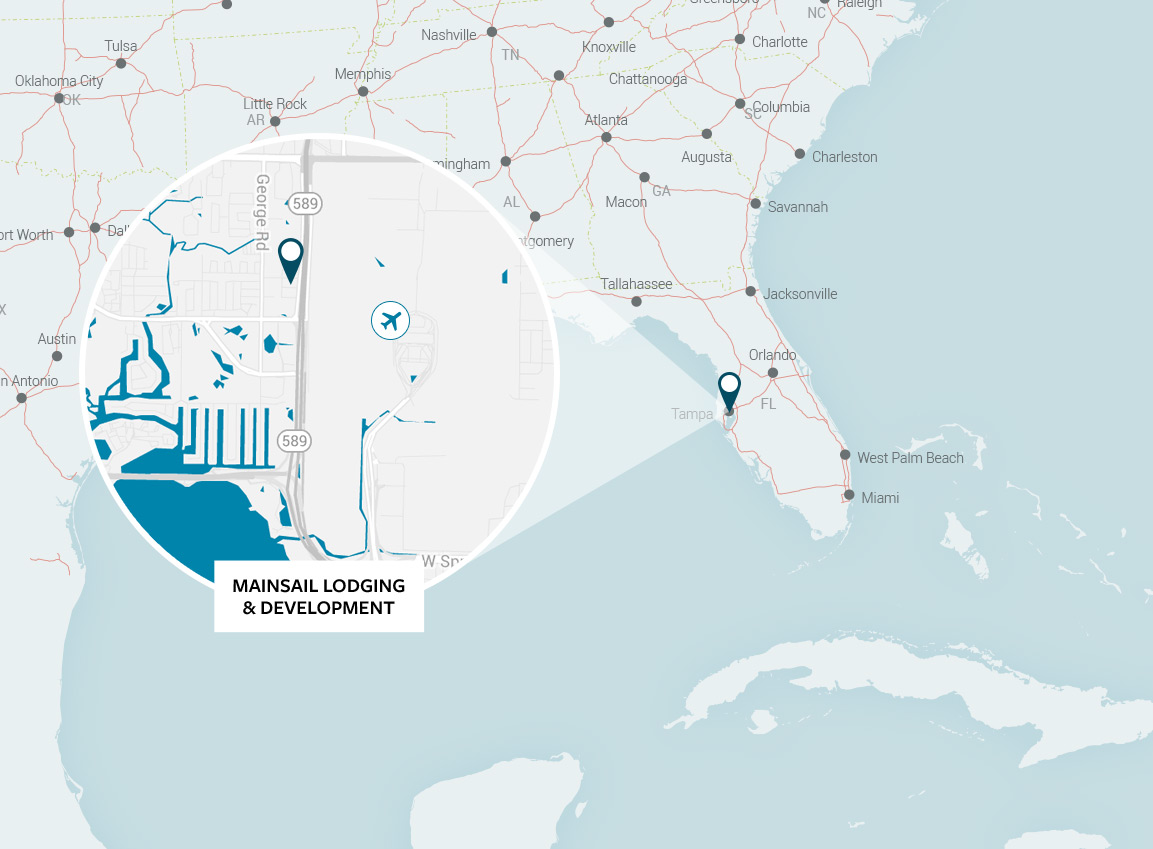 Mainsail Lodging & Development Map