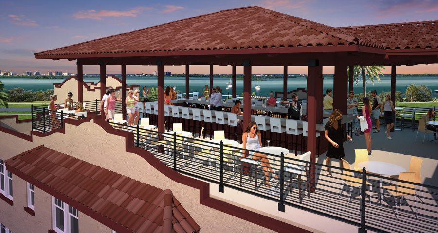 Fenway hotel rooftop bar