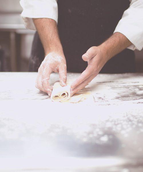 Chef Chad Johnson hands